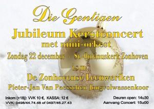 Flyer Kerstconcert Die Gentiaen & Zonhovense Leeuweriken(-jes)